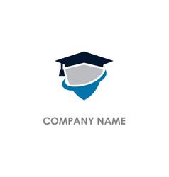graduation shield university logo vector image