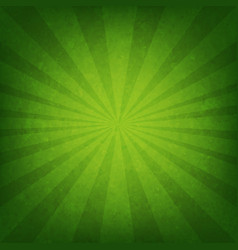 green sunburst poster vector image