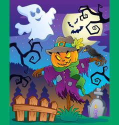 halloween scarecrow theme image 2 vector image