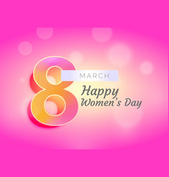 happy womans day greeting card design with vector image