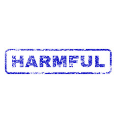 Harmful rubber stamp vector