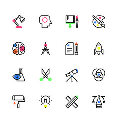 icons of creativity vector image