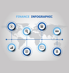 infographic design with finance icons vector image