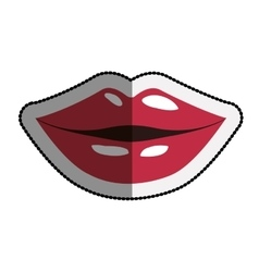 Isolated female mouth cartoon design vector