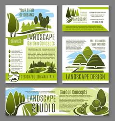 landscape garden design concept posters vector image