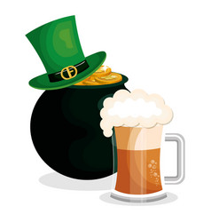 leprechaun hat saint patrick day vector image
