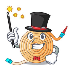 Magician the water hose mascot vector