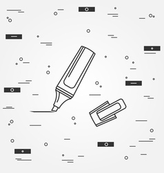 Marker pen Icon Marker pen Icon Marker pen Icon Dr vector image