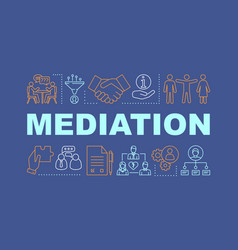 Mediation word concepts banner vector
