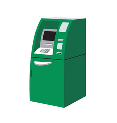 modern green atm or automated teller machine vector image