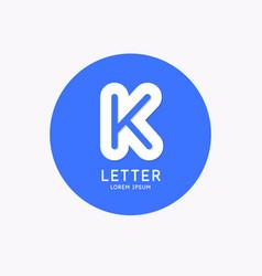 modern linear logo and sign letter k vector image