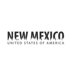 new mexico usa united states of america text or vector image
