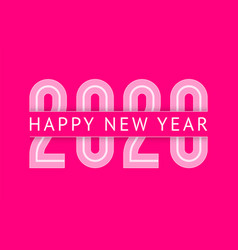 new year greeting card design 2020 10eps vector image