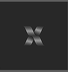ornamental letter x logo initial monogram vector image