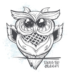 Owl - time to sleep vector