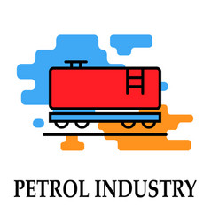 petrol industry transportation icon symbol vector image