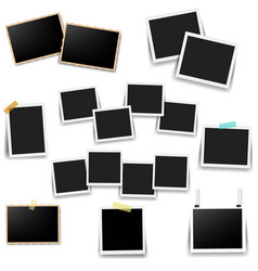 photo frame set with white background vector image