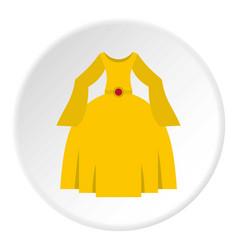 Princess dress icon circle vector