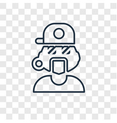 rapper concept linear icon isolated on vector image