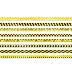 realistic seamless covid-19 warning stripe lines vector image