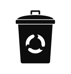 recycling eco bin icon simple style vector image