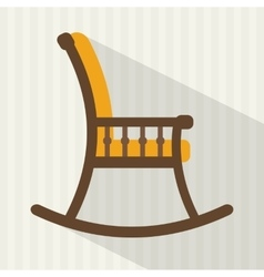 Rocking chair vector