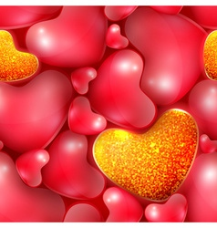 seamless pattern with different sized hearts vector image