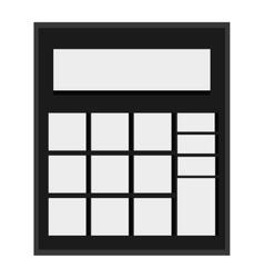 simple calculator icon vector image