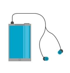 smartphone earphones application modern vector image