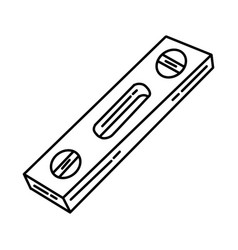 Spirit level icon doodle hand drawn or outline vector