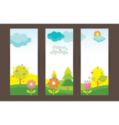 Spring Season Object Icons Backdrop vector