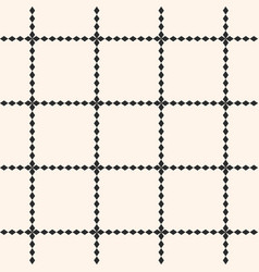 square grid seamless pattern geometric lattice vector image