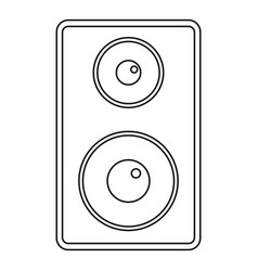 Subwoofer icon outline style vector