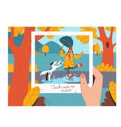 sweet memories concept album with photos vector image