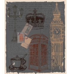 telephone great britain vector image