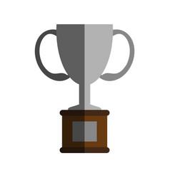 trophy flat shadow vector image