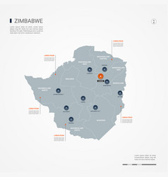 zimbabwe infographic map vector image