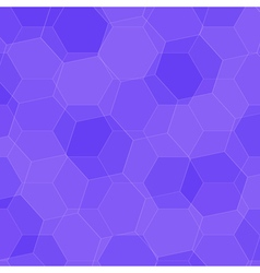 Background with violet honeycombs vector image vector image