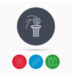 Basketball icon Basket with ball sign vector image vector image