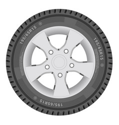 car wheel cartire isolated on a white background vector image