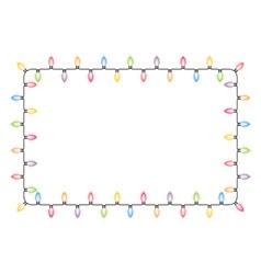 Christmas lights frame vector