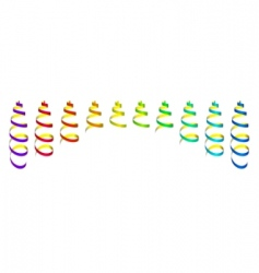 colored streamers vector image vector image
