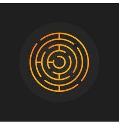 Golden circle maze icon vector image vector image