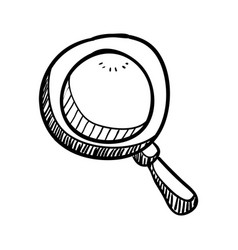 magnifying glass doodle draw vector image