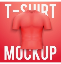 Red t-shirt on background Product mockup vector image vector image