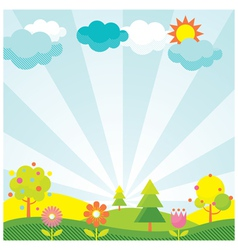 Spring Season Object Icons Background vector image vector image