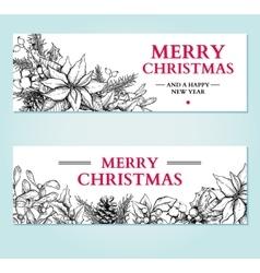 Christmas banner hand drawn vector