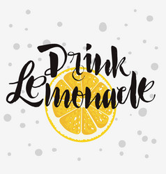 drink lemonade rough traced custom artistic vector image vector image