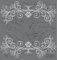 grey frame vector image vector image