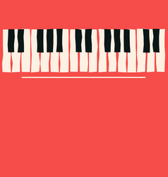 piano keys music poster template jazz and blues vector image vector image
